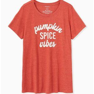 Torrid Plus Size Pumpkin Spice Vibes Orange Shirt